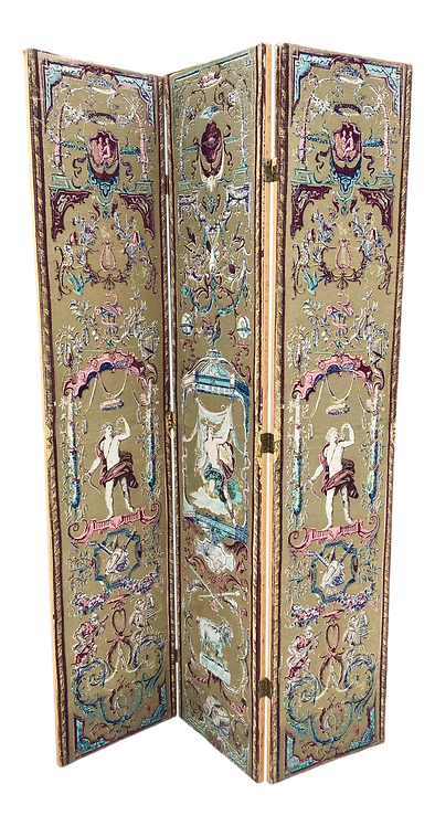 Tapestry Style French Folding Screen