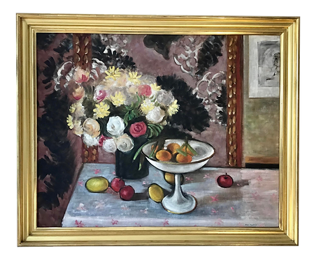 1960s Still Life Painting in the Style of Henri Matisse