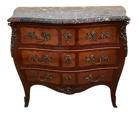 Mid 20th Century French Regency Marble Top Commode
