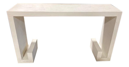 Vintage White Chinoiserie Console