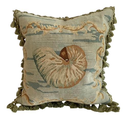 Shell Aubusson Style Pillow