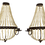 Thumbnail: Empire Beaded Candlestick Wall Sconces- a Pair