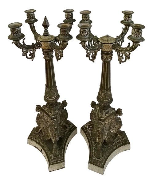 French Traditional Candelabras - a Pair