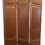 Thumbnail: Custom Leather 3 Panel Large Folding Screen With Chrome Nailheads