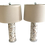 Thumbnail: Mother of Pearl Tall Table Lamps - a Pair
