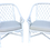 Thumbnail: Ficks Reed Barrel Chairs in White Lacquer and Todd Hase Textiles - a Pair