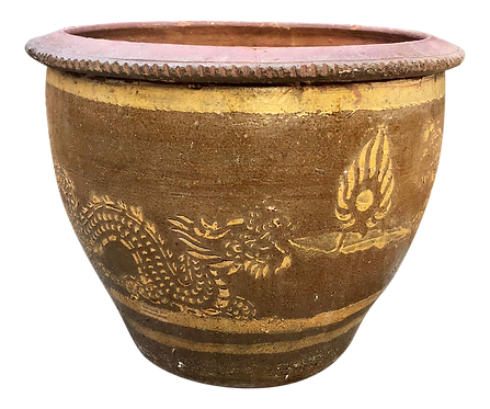 Asian Dragon Egg Pot