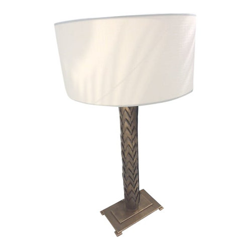 Jansen Bronze French Table Lamp With Shade