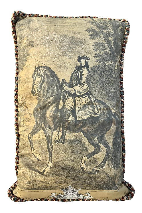 Rectangular Pillow Of A Marquis on a Horse