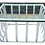 Thumbnail: Large Boho Chic White Rattan Square Coffee Table With Glass Top