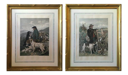 English and Scottish Gamekeepers Engravings - a Pair