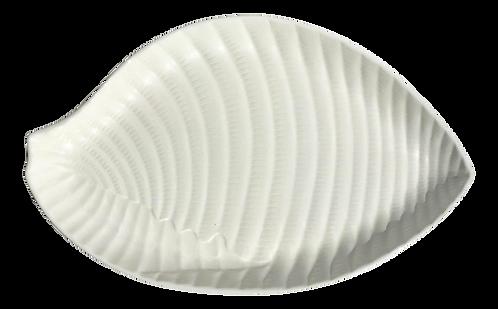 Large White Ceramic Shell Serving Platter