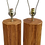 Thumbnail: Mid Century Pencil Reed Rattan Table Lamps - A Pair