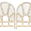 Thumbnail: Boho Chic Rattan Twin Headboards in a White Washed Finish- a Pair