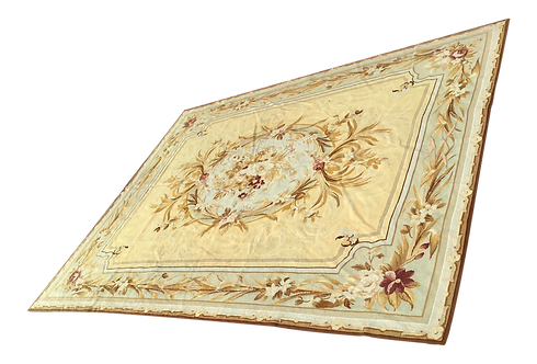 Henri Samuel Style French Aubusson Needlepoint Floor Covering