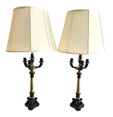 Empire Table Lamps - a Pair