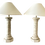 Thumbnail: Faux Coquina Table Lamps With Shade - a Pair
