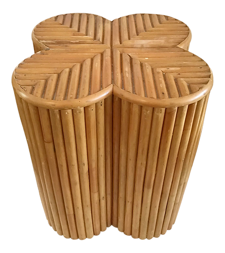 Pencil Reed Cocktail Table in an Alhambra Form