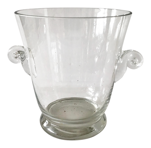 1950s French Glass Ice Bucket
