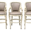 Thumbnail: Set of 3 Continental Bar Stools in Leather