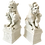 Thumbnail: Blanc De Chine Foo Dogs With Offspring - a Pair