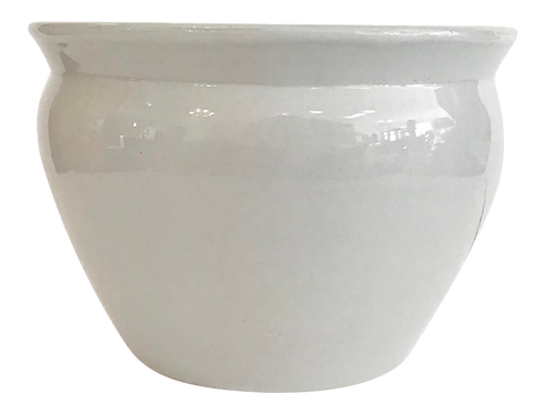Blanc Fish Bowl Cache Pot