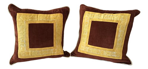 1960s Fortuny Square Pillow - a Pair