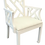 Thumbnail: Vintage White Chippendale Arm Chair in White Lacquer