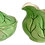 Thumbnail: Ceramic Set of Lettuce Leaf Creamer and Sugar