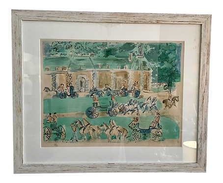 1960s Raoul Dufy Gates of Versailles Lithograph