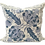 Thumbnail: Boho Chic Blue and White Hand Embroidered Toss Pillow