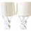 Thumbnail: White Lacquered Wood Urn Table Lamps - a Pair