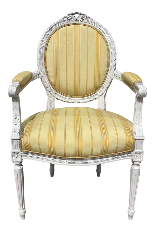 Classic French Louis XVI Fauteuil Arm Chair