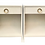 Thumbnail: Todd Hase Burlap Wrapped Nightstands With Single Drawer in White - a Pair