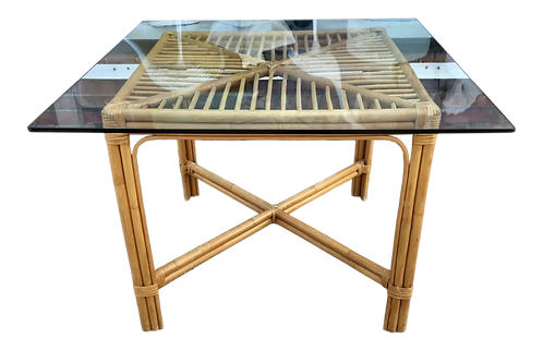 Boho Chic Rattan Game Table