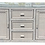 Thumbnail: Boho Chic Bielecky Brothers White Washed Rattan Sideboard