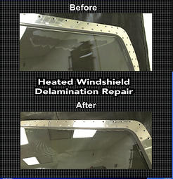 Delamination repair - before and after