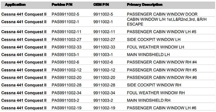 Cessna Conquest Aircraft Windows Application List