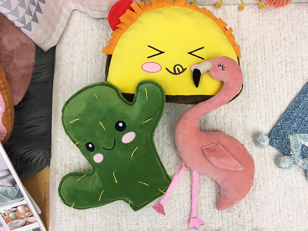 "These cute plush pillow guys just arrived and we ""heart"" them.."