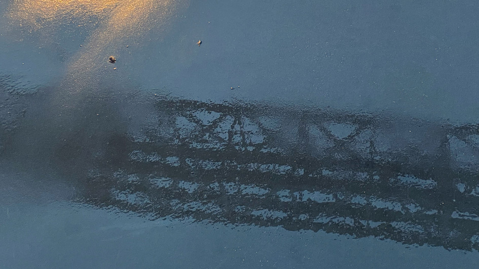 Reflections on the sidewalk, 2020, Ostend (BE)
