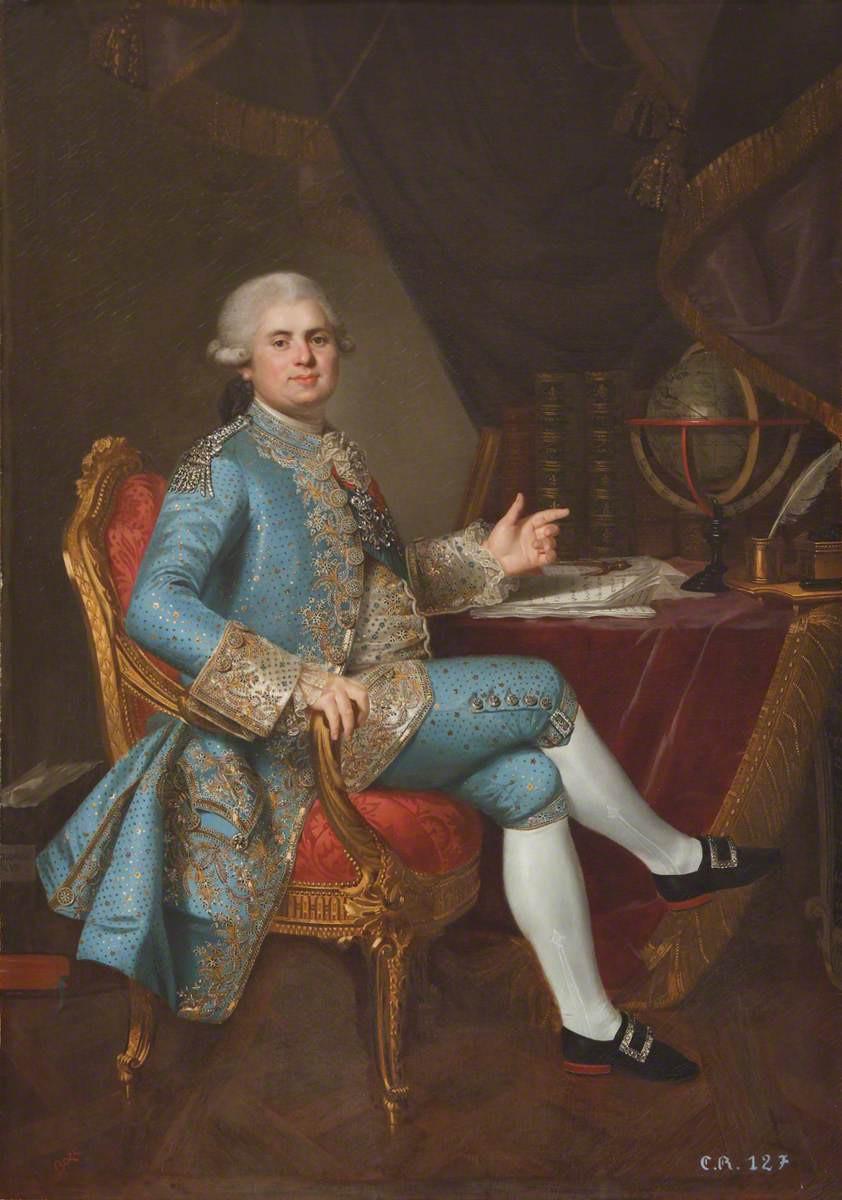 Comte de Provence, Hartwell House.