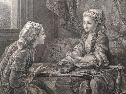 La Confidence, Beauvarlet d'après Van Loo, vers 1774
