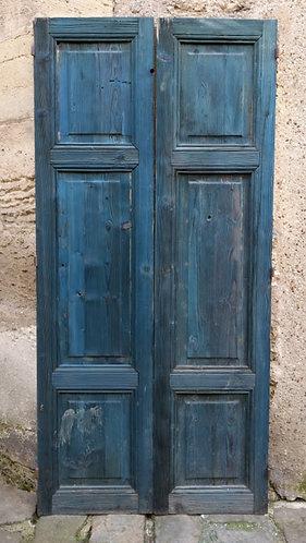 Paire de portes en pin