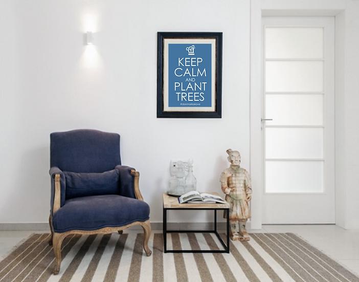 Plakat - Keep Calm -Blå