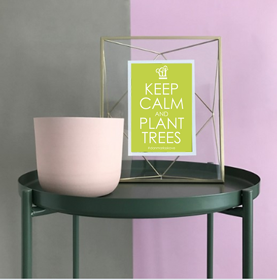 Plakat - Keep Calm - Lysegrøn