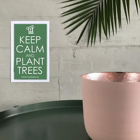 Plakat - Keep Calm - Mørkegrøn