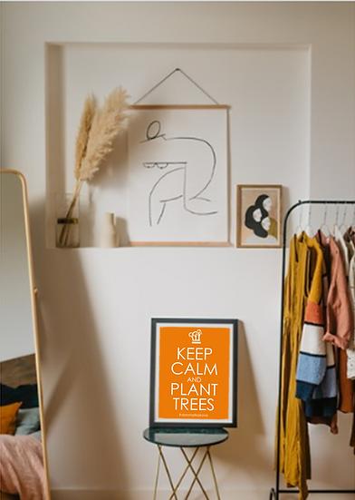 Plakat - Keep Calm - Orange