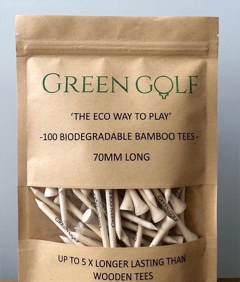 Premium 70mm Biodegradable Bamboo Tees - (2.75 inch)