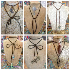 New designs of my Suede Wrap Necklaces!