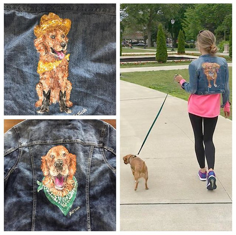 Denim Jacket Custom Pet Portraits 🎨🖌 ?